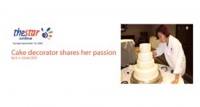 Cake Decorator Shares Her Passion
