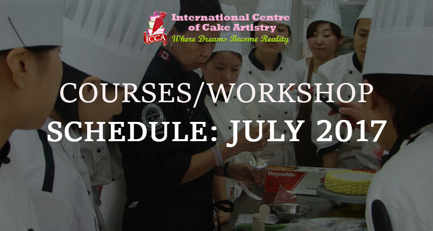 icca course schedule july 2017