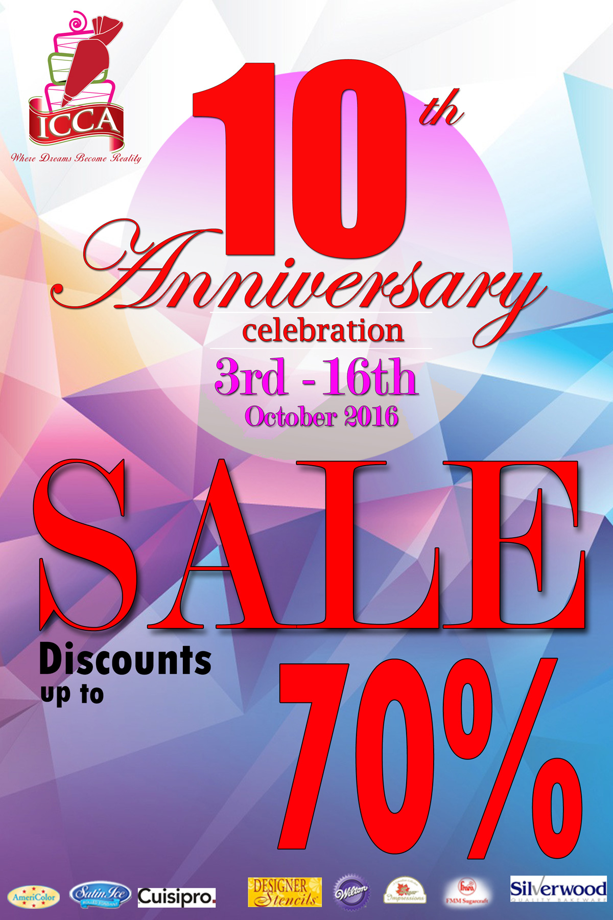 10th anniversary celebration sale