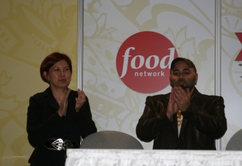 Rosalind and Duff Goldman at a Food Network event.